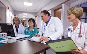Doctors in the CVC at Tufts Medical Center work together.