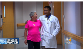 Dr. Chatterjee and Pat featured on WBZ Health Watch