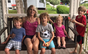 Katherine Fitzpatrick and her 4 grandchildren.