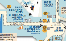 Tufts MC and Tufts Children's Map