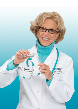 Diana Bianchi, MD received the 2014 True Blue award.