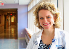 Nadine Lindendoll, NP is a nurse practitioner in the Cancer Center at Tufts Medical Center.