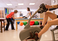 Physical therapy for patients in the Sports Medicine and Shoulder Program at Tufts Medical Center in Boston, MA.