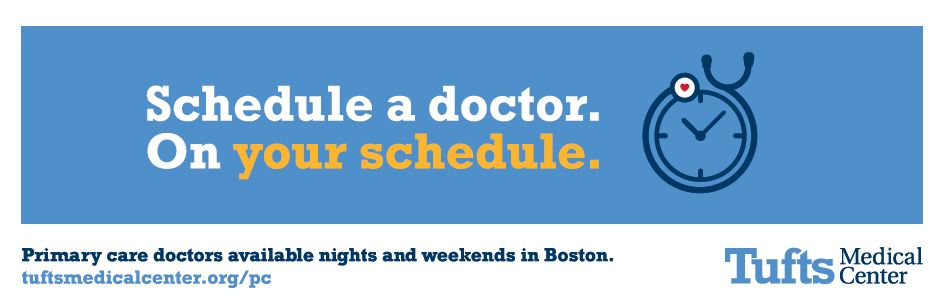 Primary Care OOH creative from Tufts Medical Center's 2017 advertising campaign.