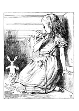 Alice's Adventures in Wonderland by John Tenniel, a piece in the Neurology, Illustrated gallery at Tufts Medical Center in Boston, MA.