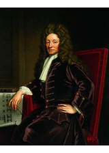 Christopher Wren by Godfrey Kneller, a piece in the Neurology, Illustrated gallery at Tufts Medical Center in Boston, MA.