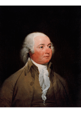 John Adams by John Trumbull, a piece in the Neurology, Illustrated gallery at Tufts Medical Center in Boston, MA.