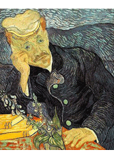 Portrait of Dr. Gachet by Vincent van Gogh, a piece in the Neurology, Illustrated gallery at Tufts Medical Center in Boston, MA.
