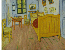 The Bedroom in Arles by Vincent van Gogh, a piece in the Neurology, Illustrated gallery at Tufts Medical Center in Boston, MA.