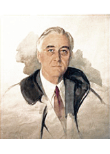 The Unfinished Portrait of Franklin D. Roosevelt by Elizabeth Shoumatoff, a piece in the Neurology, Illustrated gallery at Tufts Medical Center in Boston, MA.