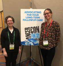 Dr. Parsons and Program Manager, Rachel, share advocacy tools at Cancer Con 2018.
