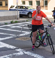 Tufts Medical Center's Trauma Prevention Team aims to decrease distracted biking.