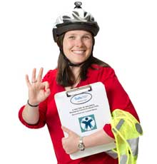 Beth Wolfe, Tufts Medical Center's injury prevention coordinator, discusses bicycle safety in Boston.