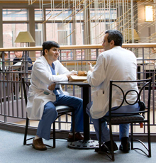 Employees at Tufts Medical Center in Boston, MA.