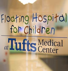 The outside of the Floating Hospital for Children main building.