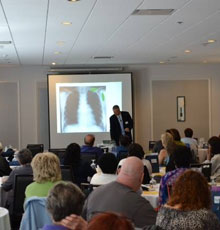 Cancer Center Survivorship Meeting in 2013.