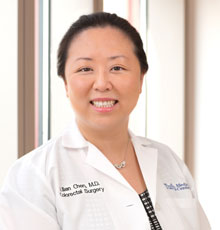 Lilian Chen, MD, a colorectal surgeon at Tufts Medical Center in Boston.