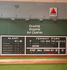 An artist recently painted a mural of Fenway Park in the pediatric sedation unit at Floating Hospital for Children.