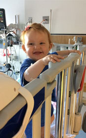 The care team at Floating Hospital for Children in Boston, MA helped care for Katy who underwent open-heart surgery to treat ventricular septal defect (VSD).