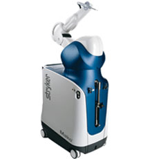 Mako technology is used for robotic-assisted knee replacement surgery at Tufts Medical Center in downtown Boston, MA.