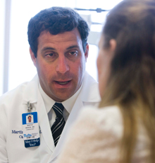 Martin Maron, MD and his patient at Tufts Medical Center.