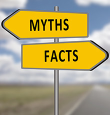 Myths vs Facts sign