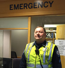 ED Officer Paul Vedrani, CPO has served as a Public Safety Officer at Tufts MC for 24 years.