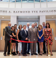 The dining pavilion was dedicated and named the A. Raymond Tye Pavilion on August 26, 2015.
