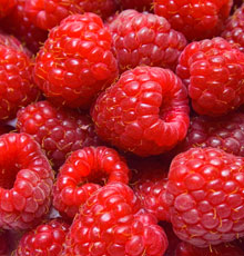 Pile of raspberries