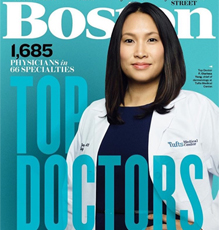 Dr. Clarissa Yang on the cover of 2019 Boston Magazine Top Doctor issue.