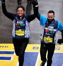 Nikki Mehta, MD runs the 2018 Boston Marathon