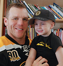 Maggie Rudnicki with Shawn Thornton.