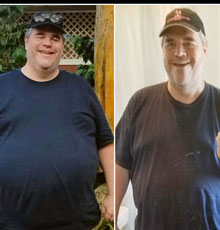 Steven before and after the weight and wellness center