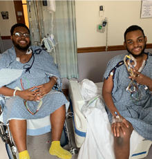Two young brockton men after their heart transplants