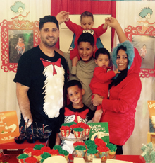 Luis and his family