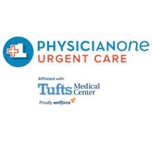 PhysicianOne Urgent Care and Tufts MC logos