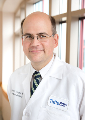 Jeffrey Cooper, MD is a transplant surgeon at Tufts Medical Center.