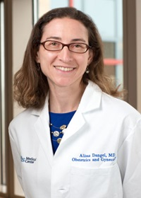 Alissa Dangel, MD is an obstetrician and gynecologist at Tufts Medical Center.