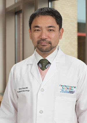 Tomo Tarui, MD is a pediatric neurologist at Floating Hospital for Children in Boston.