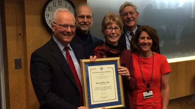 Infectious Diseases faculty at Tufts Medical Center in downtown Boston, MA, receive an award.