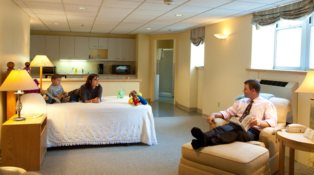 The Neely House at Tufts Medical Center offers accommodations for cancer patients and their families.