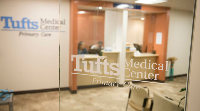 The entrance to Tufts MC Primary Care- Woburn