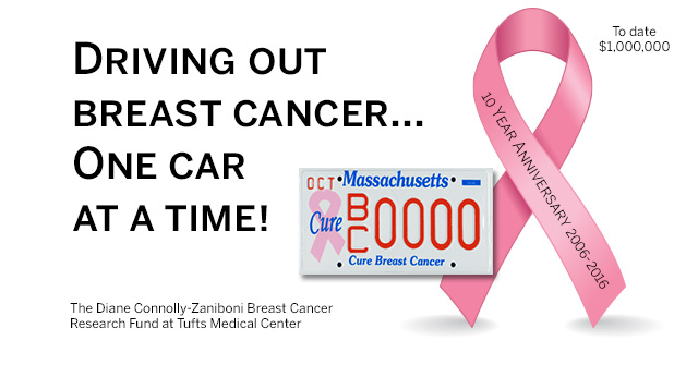 Cure Breast Cancer License Plate Reaches 1 Million | Tufts