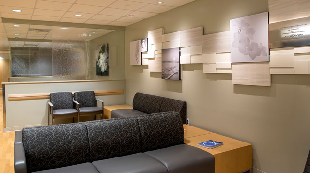The waiting area for digestive health patients is made for comfort.