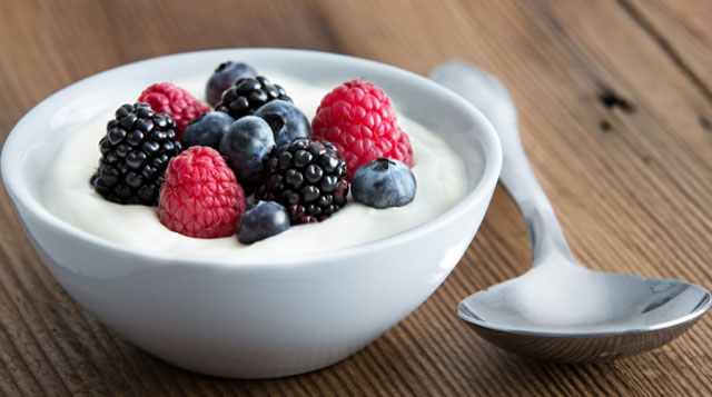 Low-fat yogurt and dairy for Calcium and vitamin D