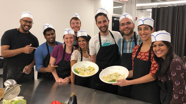 Residents took a cooking class together